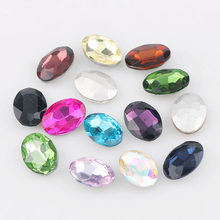 High Quality 20x30mm Mix Color Oval Pointed Back Crystal Fancy Stone Glass Stones For DIY Wedding Dress Jewelry Stones Beads(China)
