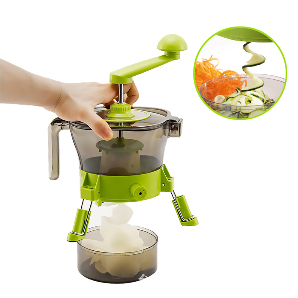 Manual Kitchen Food Processors Food Cutter Vegetable Grater Three Different Function Food Grade ABS Material Kitchen Appliances multi function food processors vegetable cutter food slicer set folding design stainless steel blade kitchen appliances