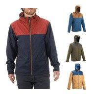 QUECHUA Arpenaz 100 Men S Hiking Waterproof Rain Jacket Brown Khaki Coat From Decathlon