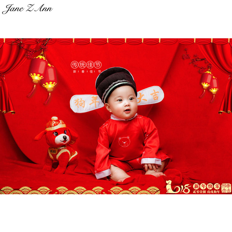 Jane Z Ann Baby Photography Props Theme Background Costume Clothes Baby happy year of dog  photo Studio Shooting Photo Props shengyongbao 300cm 200cm vinyl custom photography backdrops brick wall theme photo studio props photography background brw 12