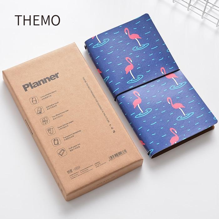 Japanse Kawaii Leuke Flamingo Cartoon DIY Notebook PU Leer Gebonden - Notitieblokken en schrijfblokken bedrukken - Foto 2