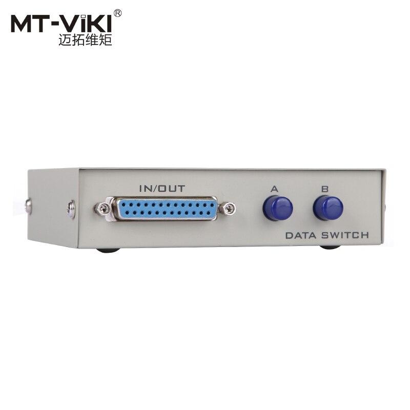 MT VIKI 2 Port DB25 Pararell LPT Printer Sharing Data Switch