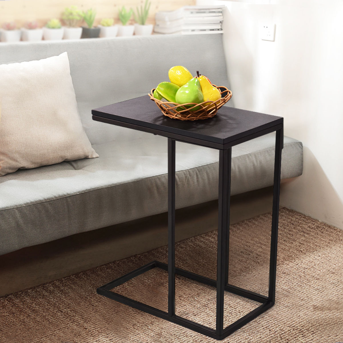 Sofa Portable Table How To Replace Cushions With Foam Giantex Coffee Tray Side End Modern