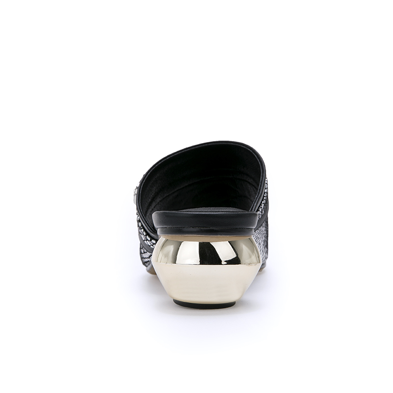 Di Superiore Tacco sliver Del Signore Donna Scarpe Delle Cuoio Zvq Pantofole A Genuino Buona Diapositive Bianco Qualità 2019 Basso D'argento Estate White Modo EBOnn8Xqw