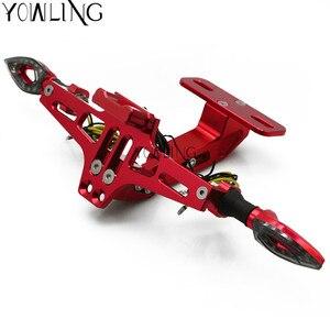 Image 5 - Für HONDA CB300F CB400F CB500F CB600F CB650F CB900F HORNET Motorrad Kennzeichen Rahmen Motorcbike Roller Anzahl Platte Halter