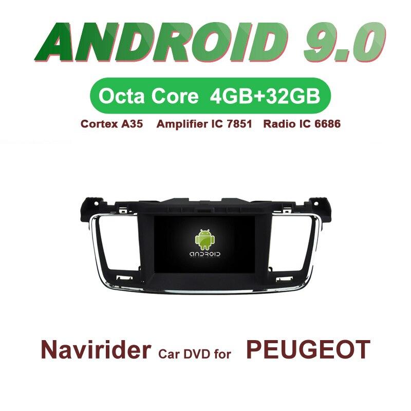 OTOJETA GPS Android 9.0 Rádio Do Carro PARA PEUGEOT 508 acessórios integrado de Navegação DVD tela Capacitiva Apoio Ligação Espelho