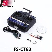 FlySky – système Radio RC FS CT6B FS CT6B 2.4G 6CH (TX FS CT6B + RX FS R6B), émetteur 6CH + récepteur 6CH, avec boîte en couleur