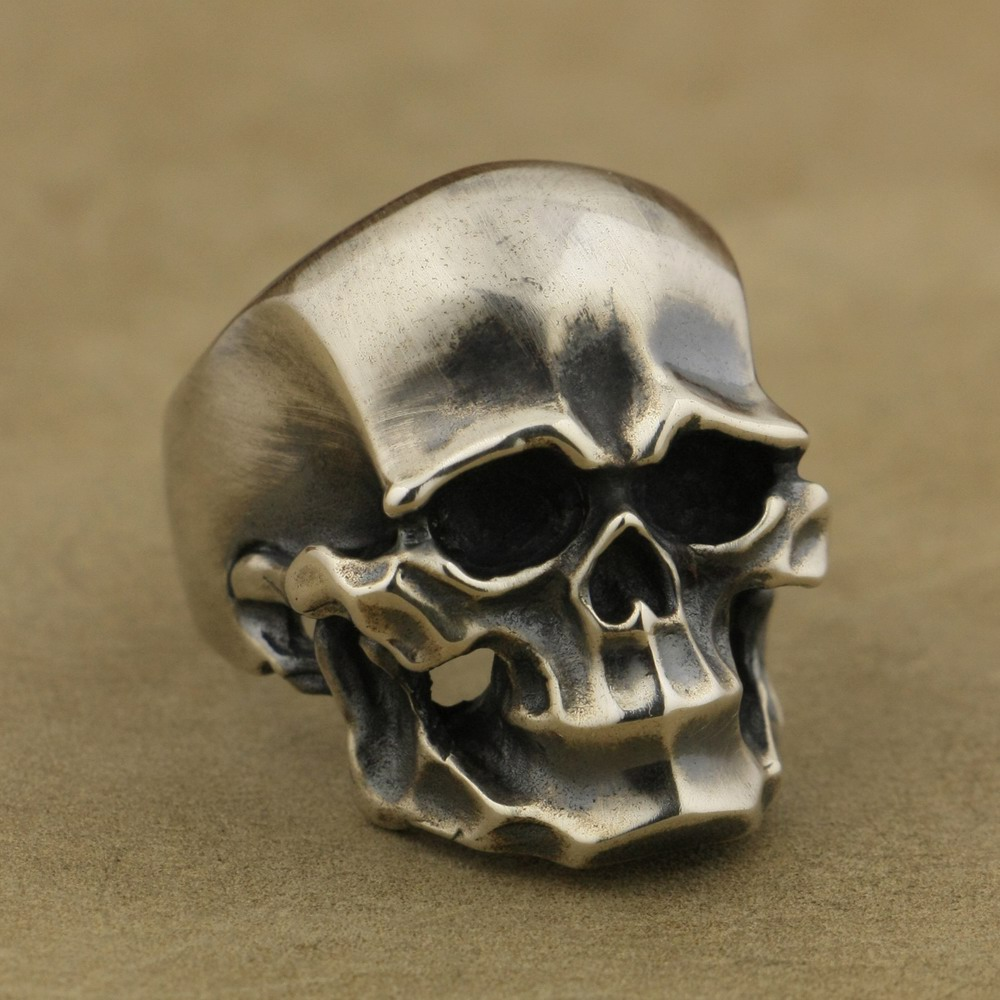 LINSION 925 Sterling Silver Heavy Skull Ring Mens Biker Rock Punk Ring TA43 US Size 7~15LINSION 925 Sterling Silver Heavy Skull Ring Mens Biker Rock Punk Ring TA43 US Size 7~15