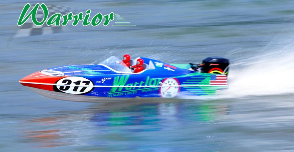 Warrior 1148 Fiberglass Electric RC Boat w/ 3660 2070KV Motor / Hobbywing 120A ESC Simulation Electric Boat Tail Engine h625 pnp spike fiber glass electric racing speed boat deep vee rc boat w 3350kv brushless motor 90a esc servo green