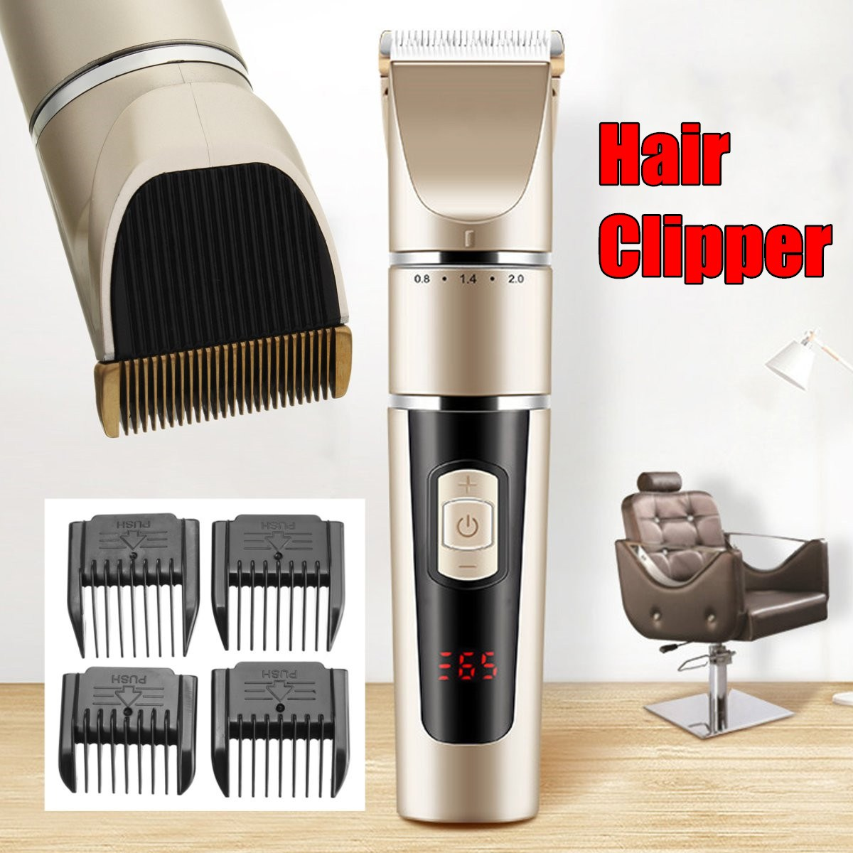Professional Electric Hair Clipper Rechargeable Hair Trimmer Hair Cutting Machine To Haircut Beard Trimer professional electric hair clipper trimmer child baby men electric shaver hair trimmer cutting machine to haircut hair