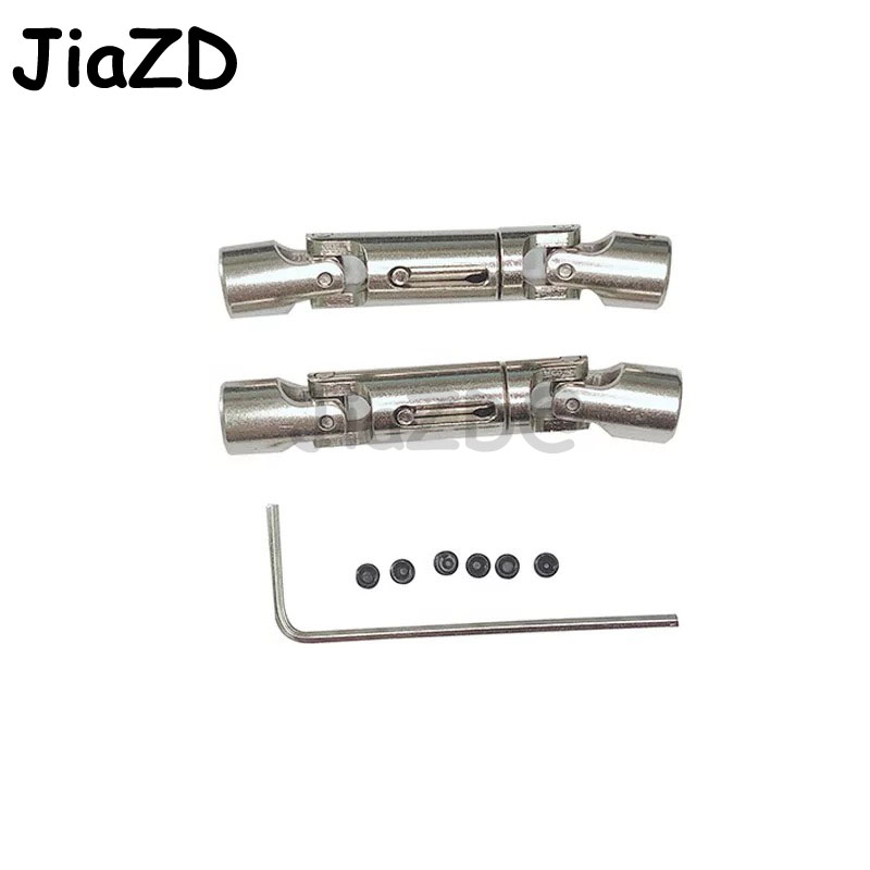 2PCS Upgrade Parts Silver Metal Drive Shaft For WPL <font><b>FY001</b></font> 1/16 RC Crawlers Car Drive Shaft toys for RC Car Parts C5 image