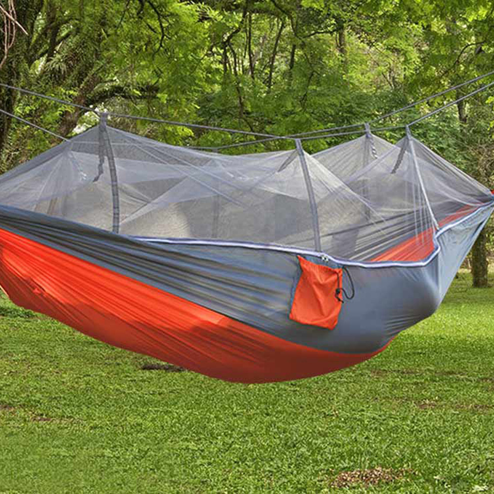 Portable Travel Outdoor indoor Camping Backpacking Garden Tent Hanging Hammock Bed With Mosquito Net facecozy outdoor parachute with mosquito net hammock tent portable nylon hiking camping garden travel hunting hanging swing bed