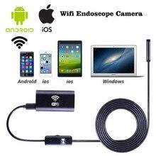 1 м 1.5 м 2 м 3.5 м жесткий кабель для iPhone IOS Android Wi-Fi эндоскоп с 8 мм объектив 6 светодиодных Водонепроницаемый инспекции бороскоп Камера