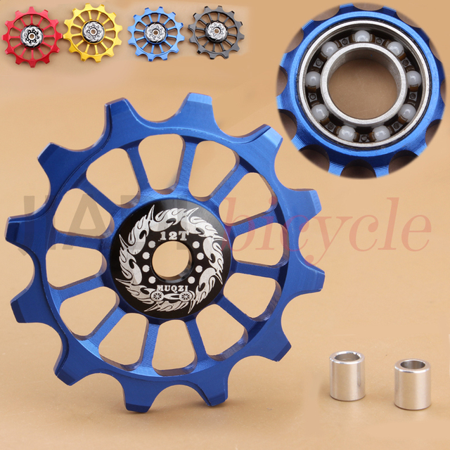 Bicycle Bike Rear Derailleur Ceramic Guide Pulley 12T Positive and Negative Tooth Guide Wheel Bike Ceramics Bearing Guide Pulley