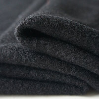 Free Shipping Black Wool Fabric For Thick Coat By 1 Meter SP051