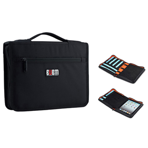 BUBM Carrying Tablet Case USB Flash Drive Cable Organizer Bag For iPad 2 3 4 Air Air2 style bubm professional dj bag for pioneer