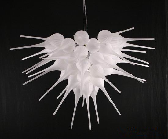 Contemporary White Bubbles Blown Glass Chandelier LED America Style Light