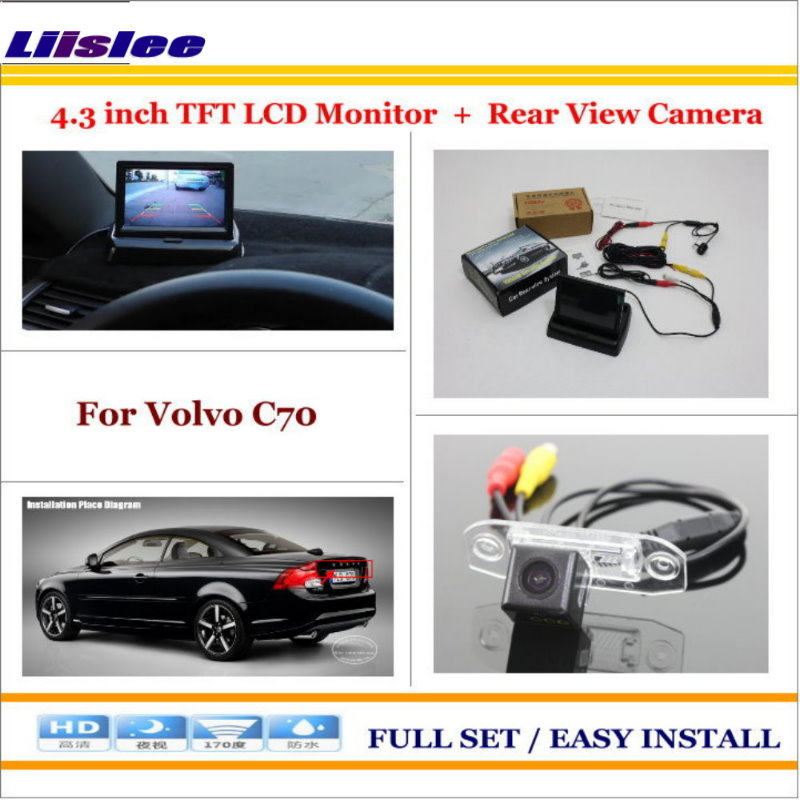 Liislee For Volvo C70 4 3 TFT LCD Monitor Car Rearview Back Up Camera 2 in