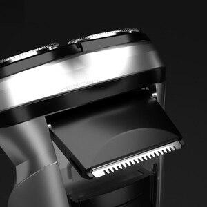 Image 5 - Youpin Enchen שחור אבן 3D חשמלי מכונת גילוח גוזם ראש חסימת הגנת תער רחיץ סוג C נטענת עבור גברים מתנה