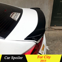 For Honda City 2015 Rear Spoiler High Quality ABS Material Primer Color Car Tail Wing Decoration Trunk Spoiler For Honda City