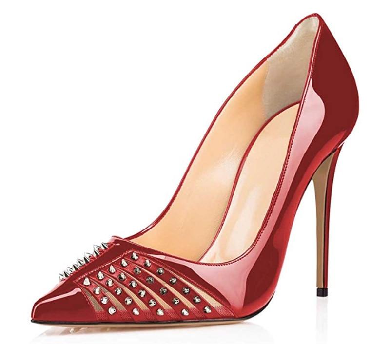 Femme De Bal pic 4 43 Talons Mujer Classique Hauts Zapatos pic Femmes pic Chaussures Pompes Rivets Pic Stilettos 3 Sur 35 Bout Minces pic 2 Pointu 5 1 Cloutés Taille Glissent 7O4WZFwqW