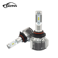 2Pcs Pair LED Head Lamp Fog Light 9005 HB3 6000K Pure White Color High Power 72W