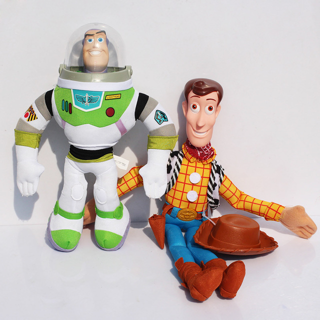 2 unids set 30 42 cm Toy Story WOODY BUZZ Lightyear de Toy Story 3 ... ce3bb7f6f2b