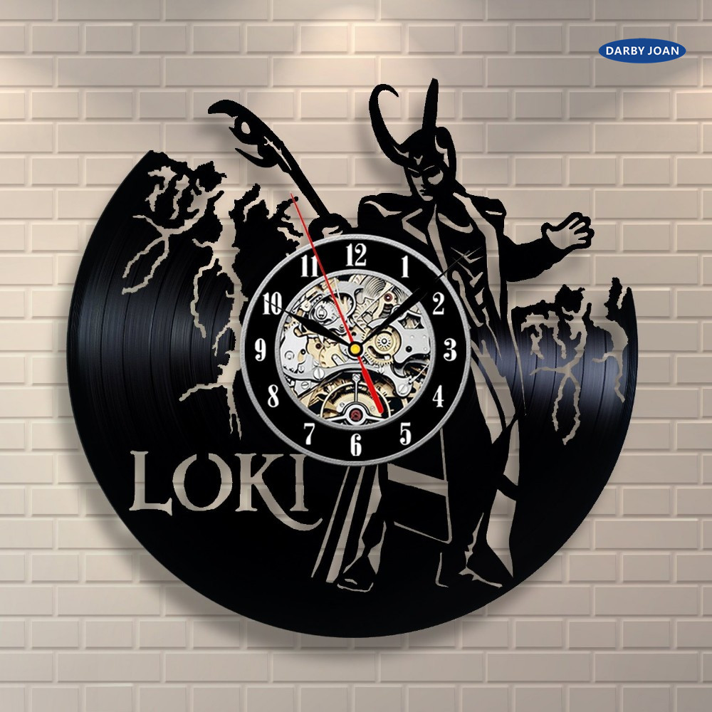 Fashion creative clock cd vinyl record wall clock film loki fashion creative clock cd vinyl record wall clock film loki avengers themed home decor 3d hanging watches duvar saat home decora in wall clocks from home amipublicfo Images