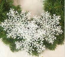 30 pçs 11 cm floco de neve natal ornamento branco plástico flocos de neve natal árvore decorações de natal floco de neve floco de neve natal