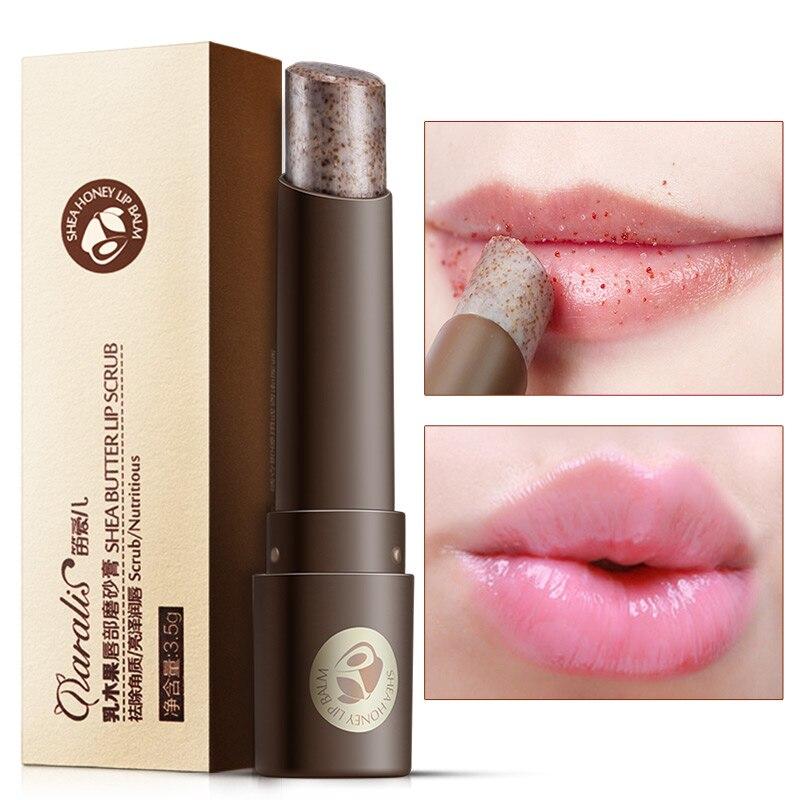 Daralis Shea Butter Lip Scrub Moisturizing Lip Balm Full Lip Plumper Remove Dead Skin Suger Lip Scrub Lip Exfoliator Makeup 3.5g