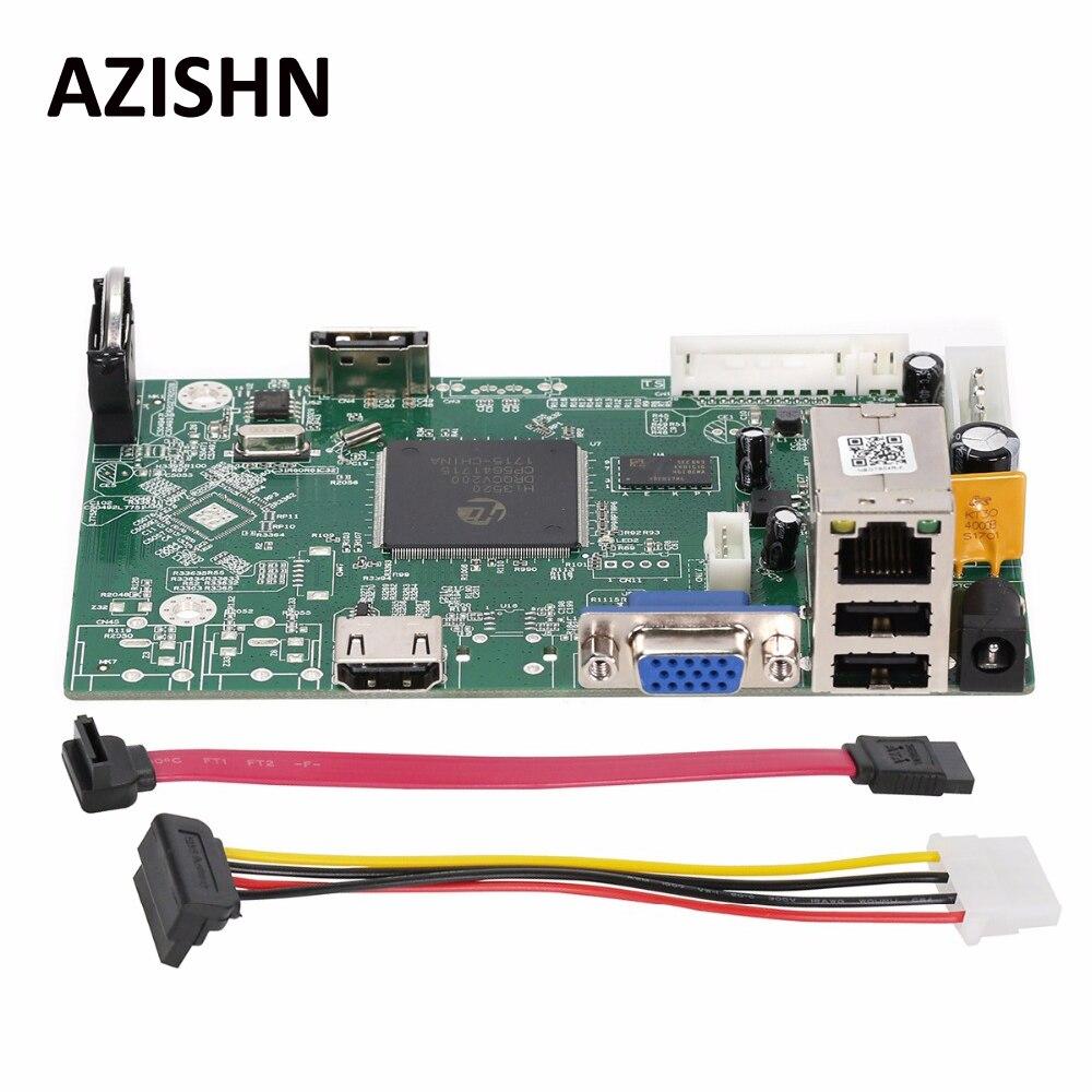 AZISHN 4CH 1080 P/8CH 960 P Sécurité Réseau NVR Enregistreur Conseil ONVIF P2P CMS XMEYE Email Alerte de Détection de Mouvement Mini NVR conseil
