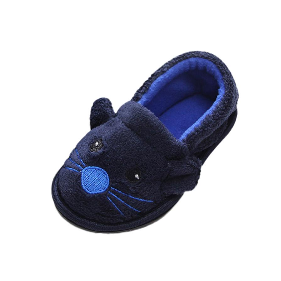 BMF TELOTUNY Fashion Kid Baby Girls Boys Soft Cartoon Design Toddler Flock Warming Shoes Household Baby Slipper Apr23 Drop Ship