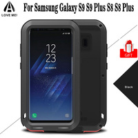 Galaxy S8 Case LOVE MEI Powerful Luxury Doom Metal Armor Shock Proof Aluminum Coque Case For