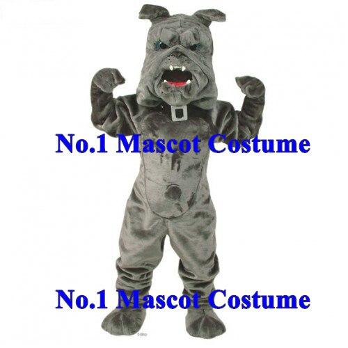 New Deluxe Power Bulldog Mascot Sport Costume Adult Size Grey Bulldog Theme Anime Cosplay Costumes Carnival Fancy Dress Kits