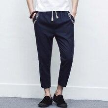 купить Men's Cotton Linen Summer Men Pants Casual New Male Trousers Pants Harem Mens Joggers Pants Thin Harlan Pants Sweatpants 5XL по цене 624.34 рублей