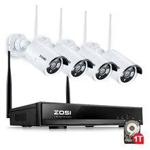 ZOSI 4CH Drahtlose CCTV System 960 P HD NVR kit mit 1 TB Outdoor IR Nacht Ip-kamera wifi Kamera-sicherheitssystem Überwachungssets