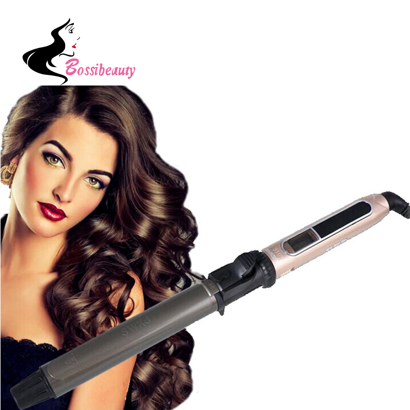 Professional Nano Titanium Hair Curler Automatic Ceramic Curling Irons Wand Wave Machine huachi automatic ceramic hair curler professional gold salon curling flat irons styling tools hairdressing electric wave machine