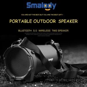 Image 4 - Smalody głośnik Bluetooth przenośne bezprzewodowe głośniki na zewnątrz z pasek do noszenia wbudowany USB, gniazdo karty tf, Aux najlepiej na imprezę