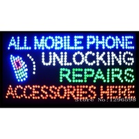 2017 Hot Sale 80 X 40CM indoor Ultra Bright flashing repairs all mobile phone unlocking accessories business shop sign of led-