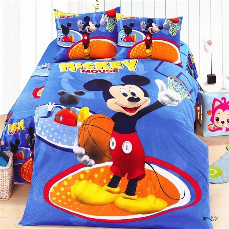 Textiles para el hogar, popular 3d mickey muchachos doble/solo juego de cama tam