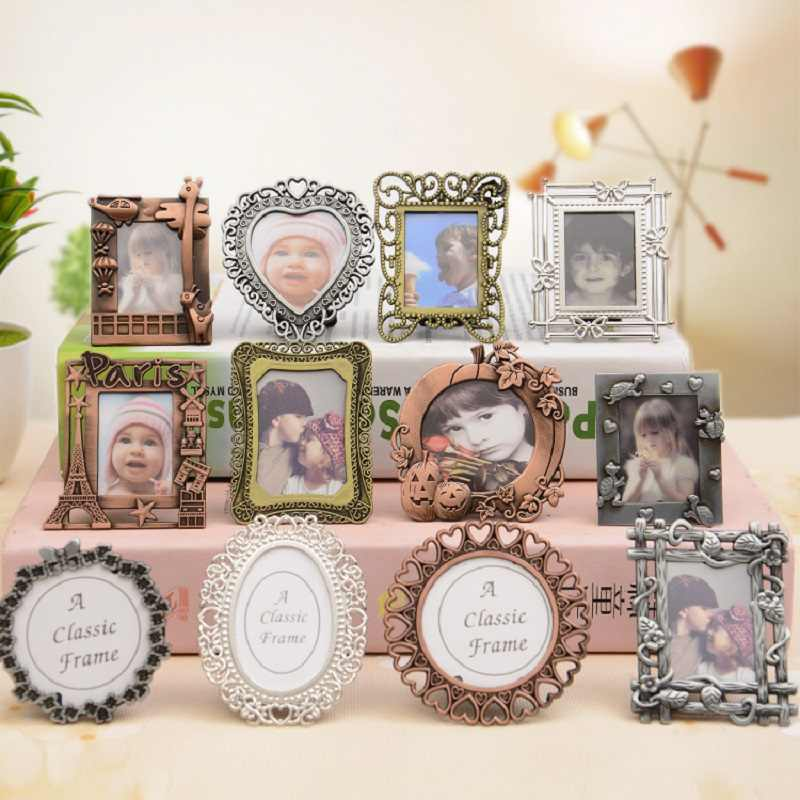 Creative Mini Retro DIY Photo Frame European Style Decorative Painting Frame Pendant Home Decoration Parts Desk Decoration Gift