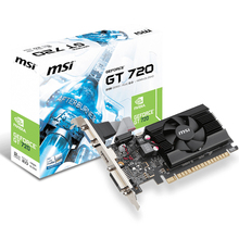 original Desktop computer game graphics card for MSI N720-2GD3LP GT720 video card free shipping