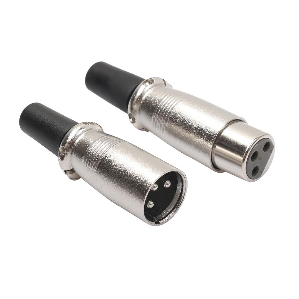 1 / 3 / 5 Pairs Solder Type Mic XLR 3 Pin Male & Female MIC Audio Microphone Cable Connector Best Price