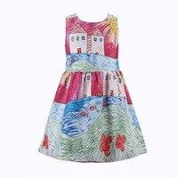 Baby Girl Dresses 2015 Girls Summer Dress Princess Rose Flower Children Dress Casual Designer Kids Dresses