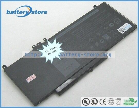 New Genuine laptop batteries for G5m10,8V5GX,6MT4T,Latitude 15 5000,E5550,14 5000,G5m1o,E5450,14-E5470,N015L5470U1540CN,7.6V,6 c