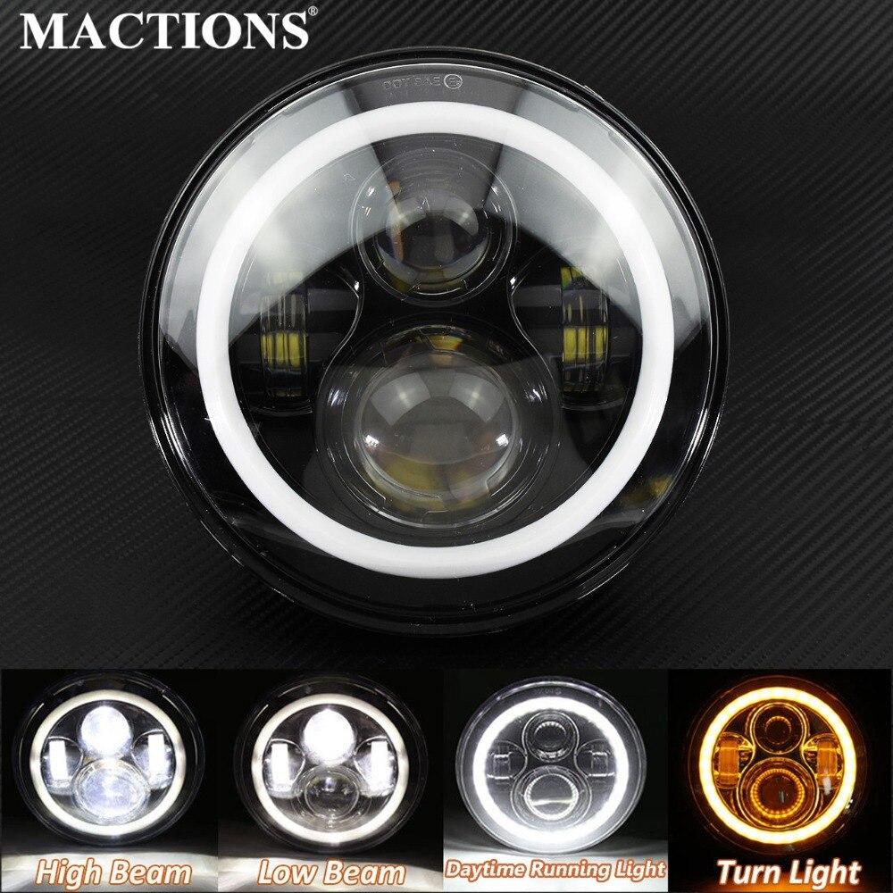 ハーレーヘッドランプ用ハローエンジェルアイ付き7インチラウンド40W LEDヘッドライト変換キット