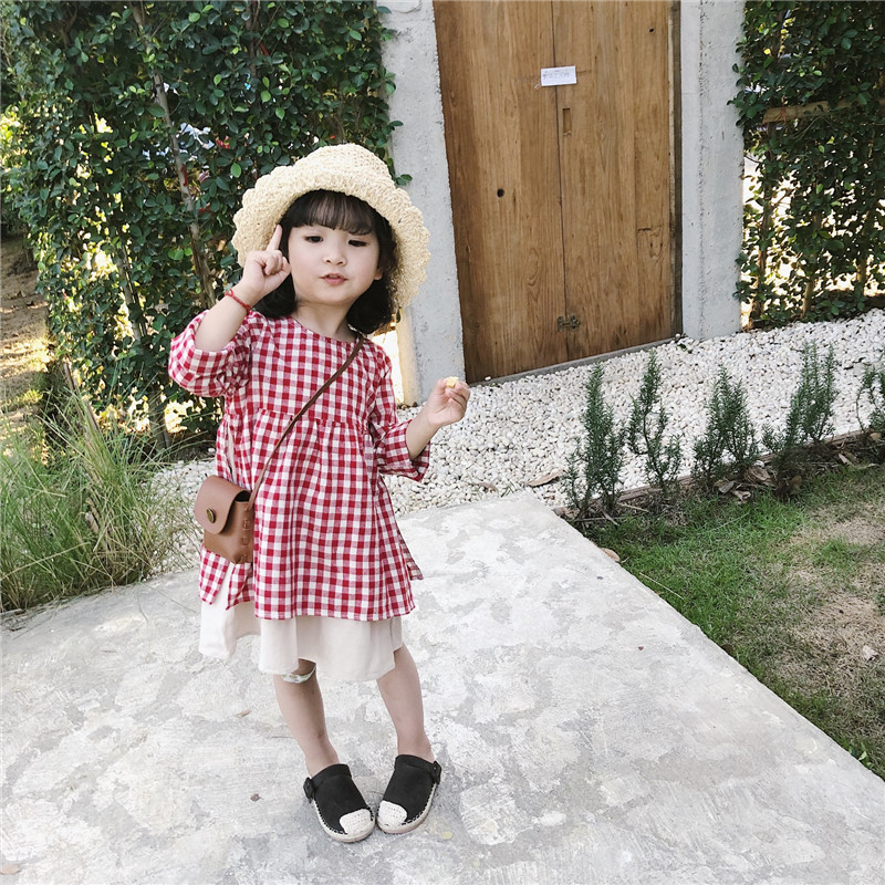 Celveroso Kinder Baby Mädchen Rot Casual Plaid Blusen & Shirts Baby Mädchen 2019 Neue Stil Top Plaid Shirt Kleid Baby Prinzessin Kleid 100% Original Mädchen Kleidung