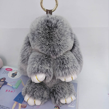 Cute Rabbit Puffy Pompon Key Chains Handmade Pokemon Bags Pendant Fashion Jewelry Ornament Car Keychain New Year Gifts Kids Toys 1