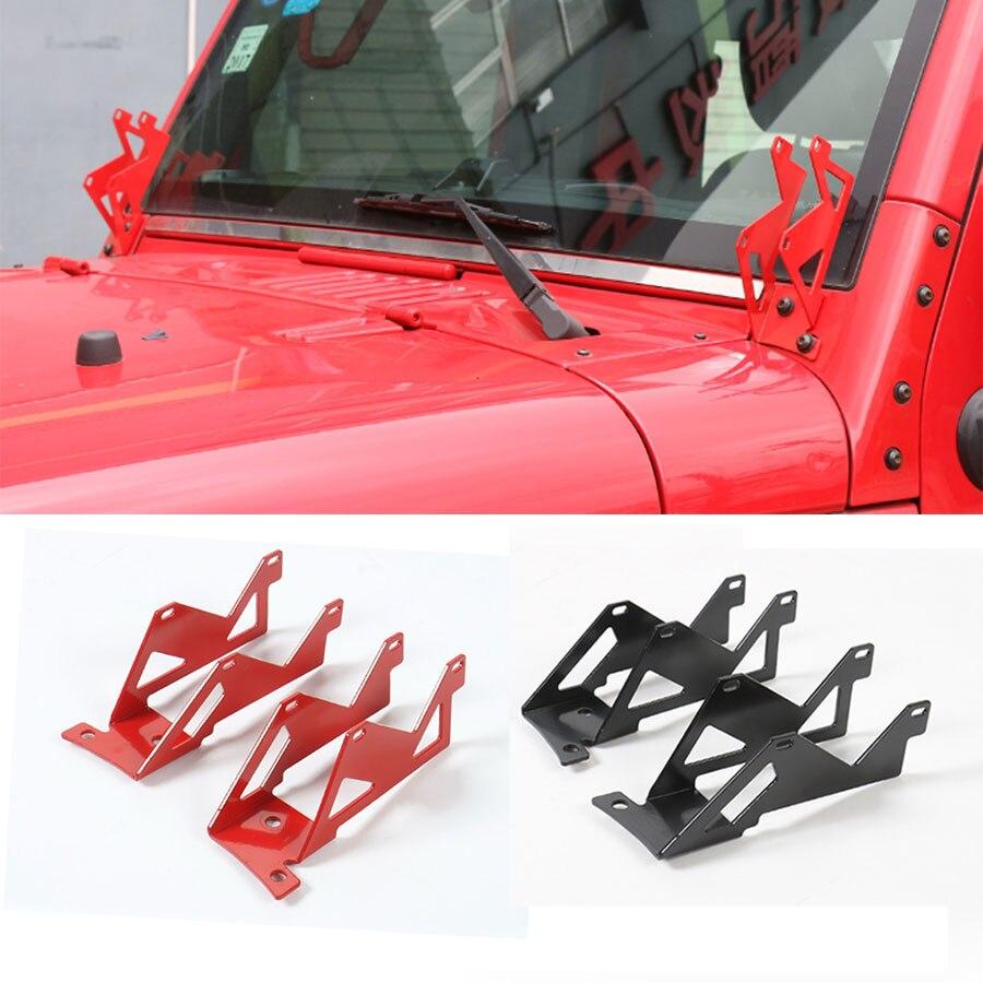 Car Styling A Pillar Bar Windshield Mounting Brackets Kits Jeep Wrangler Light Mounts Kit Offroad Dual Cube Led