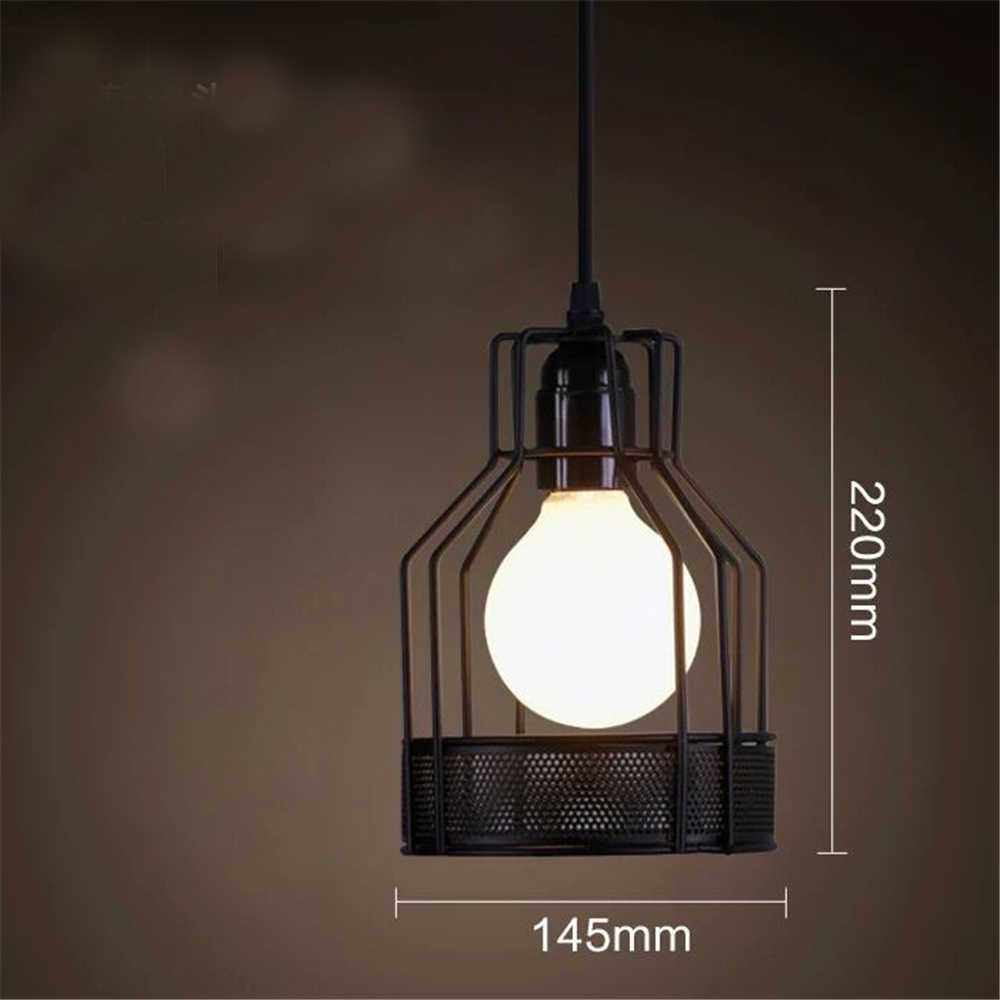 Скандинавский светодиодный подвесная клетка для осветительного прибора в ретро стиле кофейного ресторана персональный бар железная клетка арт подвесной линейный светильник